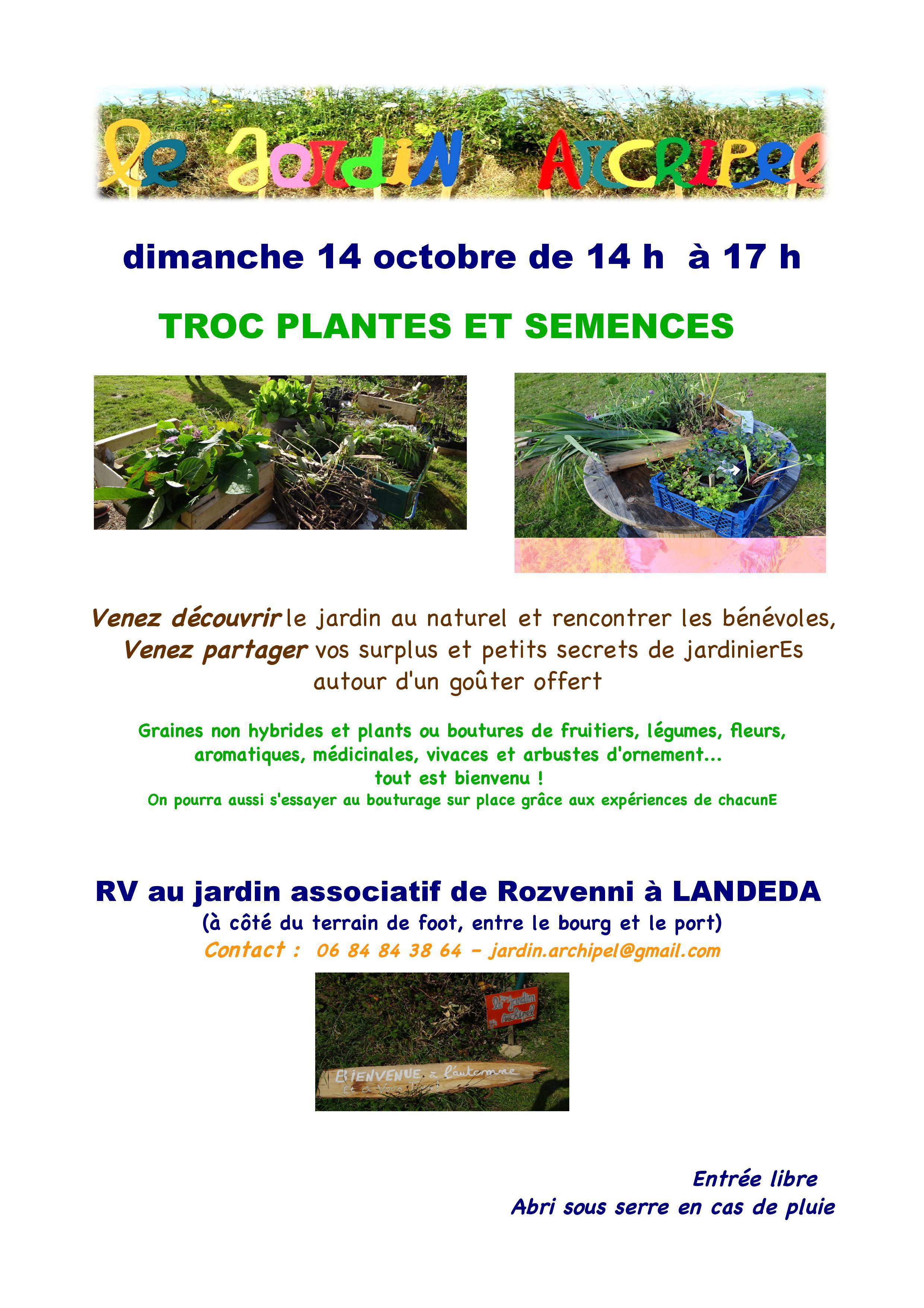 Que Planter En Octobre Sous Serre agenda – le jardin archipel